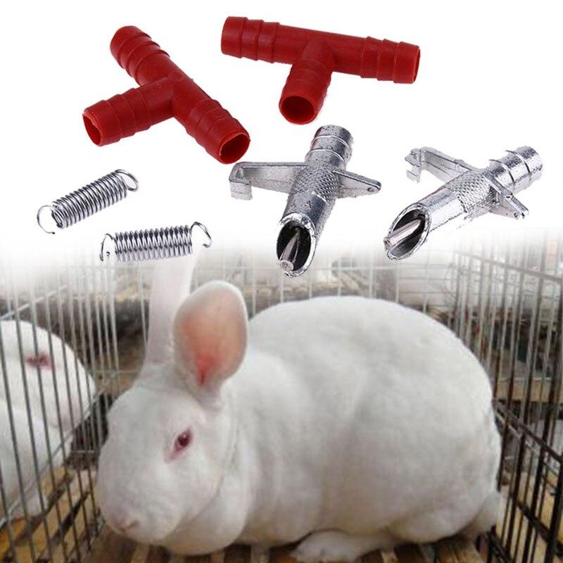 20 sets Automatische Nippel Wasser Feeder + T Schläuche + Frühling Waterer Trinker Geflügel Kaninchen Nouse Feeder Trinker für bauernhof tiere