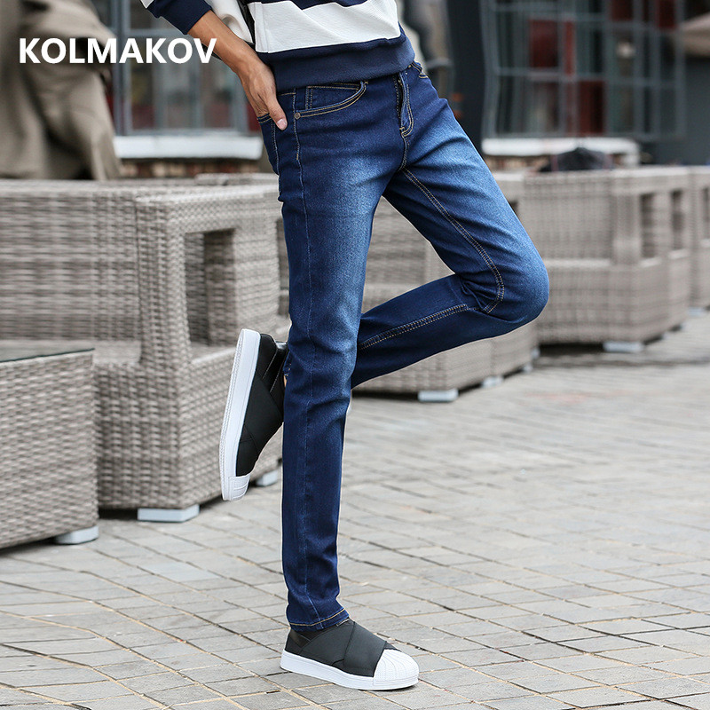 2019 Spring New Arrival Trousers High Quality Casual Slim Fit Jeans Men ,men's Classic Pencil Pants , Mens Stretch Jeans Men
