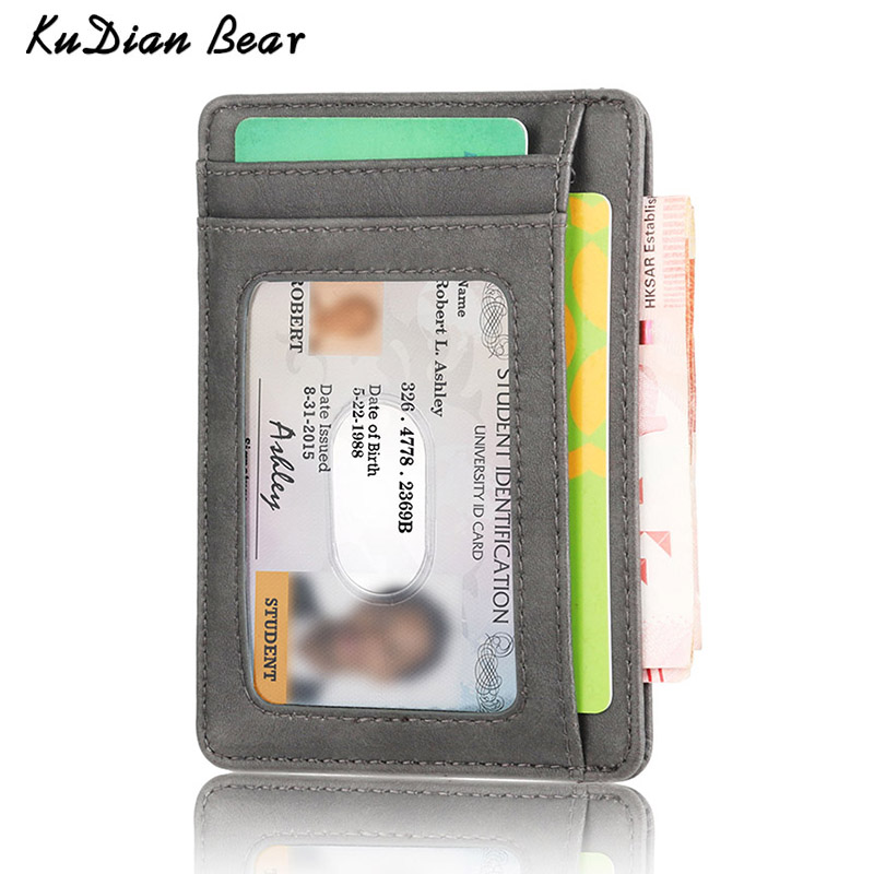 KUDIAN BEAR Rfid Vintage Men Wallet Mini Credit Card Holder Business Brand Male Wallets Purse billetera hombre BID251 PM49KUDIAN BEAR Rfid Vintage Men Wallet Mini Credit Card Holder Business Brand Male Wallets Purse billetera hombre BID251 PM49