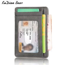 KUDIAN BEAR Rfid Vintage Men Wallet Mini Credit Card Holder Business Brand Male Wallets Purse billetera hombre BID251 PM49