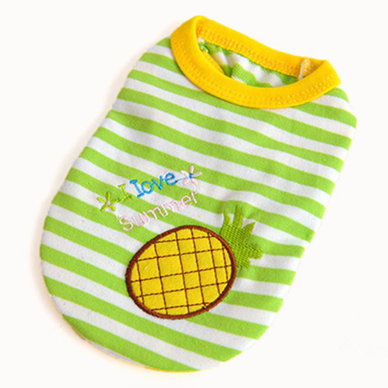 Bajila Cute Teacup Dog Clothes Summer Baby Pet Clothing Puppy Doggy Fruit Shirt Coat Sweater T-shirt for Chihuahua Yorkshire