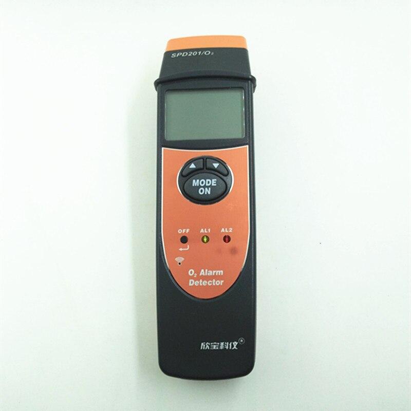 SPD201 Digital Oxygen meter O2 meter gas analyzer Gas Detector alarm O2 Monitor Gas Tester Oxygen Concentration meter 0~25% spd201 o2 digital 1 7 lcd oxygen tester black orange 3 x aaa
