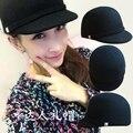 Cap cavaleiro de lã hosemanship cap curto aba do boné de beisebol de verão chapéu de feltro das mulheres chapéu bf