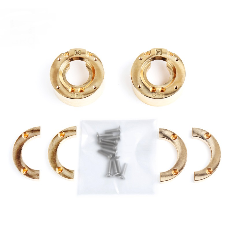 1 Set Heavy Brass Counterweight Steering Block Wheel Knuckle Axle Balance Weight for 1/10 RC Traxxas TRX-4 Trail Crawler Truck 1 5 1 6 traxxas x maxx steering hub steering knuckle blocks set for rc car 7737 7740 7743 brushless electric monster truck
