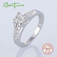 Srebrne Pierścionki dla Kobiet Engagement Wedding Ring Cubic Cyrkon CZ Pierścień Wedding Band Czysta 925 Sterling Silver Fine Jewelry