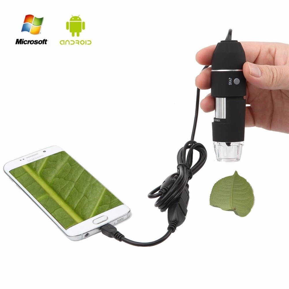 Portable 500x 800x 1000x USB Digital Microscope Camera Magnification Endoscope OTG with Stand for Samsung Android Mobile Windows
