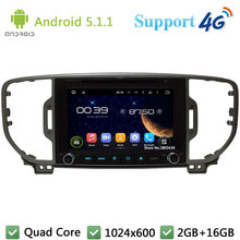 Quad Core 8″ 1024*600 Android 5.1.1 Car DVD Video Player Stereo Radio Screen FM BT DAB+ 3G/4G WIFI GPS Map For Kia SPORTAGE 2016
