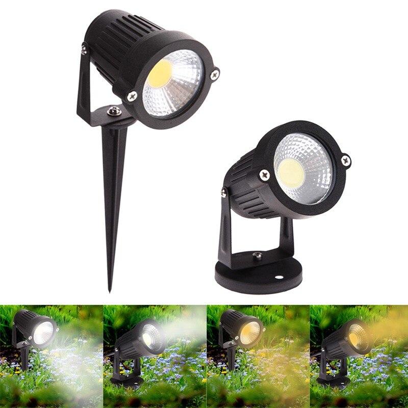 IP65 Lampă de grădină exterioară cu LED 220V 110V 12V 24V 5W COB Lampă cu LED-uri Spike Lumină Pond Calea Peisaj Spot Becuri