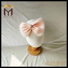 Korea Super Quality Handmade Cotton Flower Crown Hair Accessories For Girls Headband Band Bows Ties Turbante -3