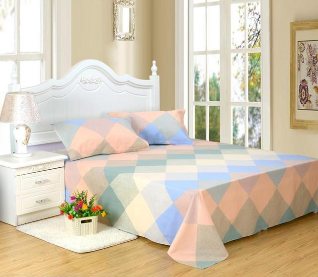 3 Piece Bed Sheets Set Queen 1Flat Sheet +2 Pillow Cases, Hotel Quality  Cotton