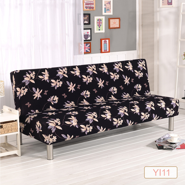 Universal Armless Sofa Bed Cover Folding Seat Slipcover Stretch Covers Cheap  Couch Protector Elastic Futon Cover