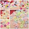 El Envío Libre Mezcló Color 72 Unids Craft ABS Perlas de Imitación de Flores de Resina Scrapbook Perlas Decora Diy
