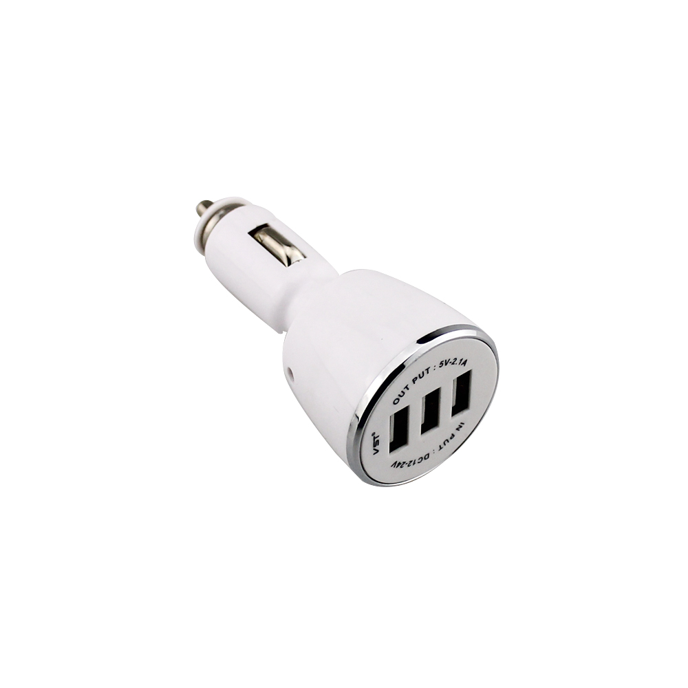 2 1A Car Triple Port USB Charger adapter for iPhone 6s Plus 6 5s 5 4 iPad Samsung Galaxy S6 Nexus in Power Adapter from Automobiles Motorcycles