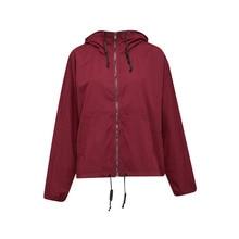 2017 Spring Autumn Coat Women Clothing Europe and America short Jacket Female Hooded Loose Casual Jacket Casaco Feminino 5Li14B9