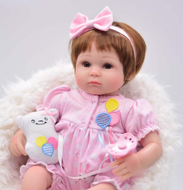 42501068292a3f US $79.99 |Cute Blonde Hair 17inch Beautiful Dress American Girls Dolls  Princess Adora Reborn Bebe Silicone Reborn Dolls Kids Toys pullip-in Dolls  ...