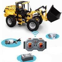 New City RC Engineering Bulldozer Excavator Motor Power MOC Technic Building Blocks Educational Toys Christmas Gift