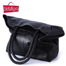 BVLRIGA 100% bolso de cuero genuino mujeres de los bolsos diseñador bolsos de las mujeres famosas marcas de lujo top-mango bolsas hombro de las mujeres