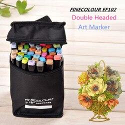 Finecolour EF102 Double Headed Soft Borstel Alcohol Gebaseerde Inkt Marker Professionele Schets Schilderen Art Markers Pen