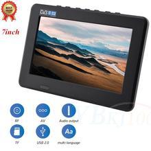LEADSTAR 7 дюймов Высокое разрешение ТВ цветной TFT светодиодный цифровой аналоговый телевизор 800x480 портативный телевизор хорошего качества Новая мода