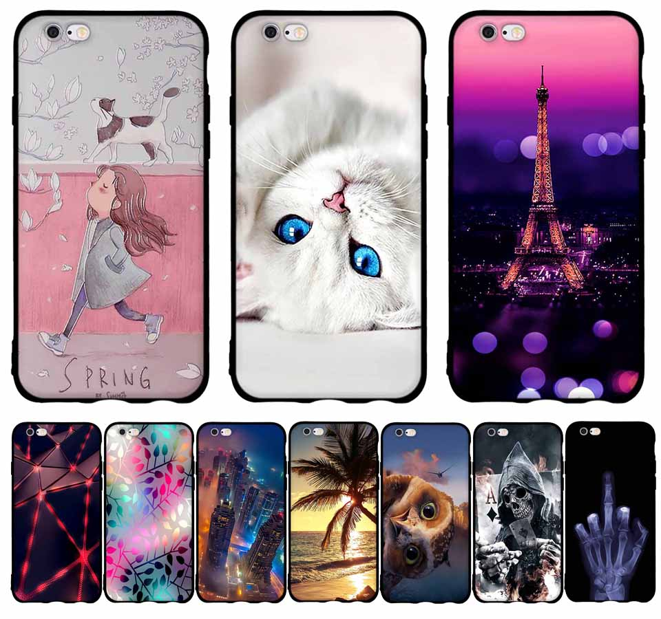 for fundas iphone 6 case cover silicone 3d cute tpu coque for iphone 6 6s case silicone cover