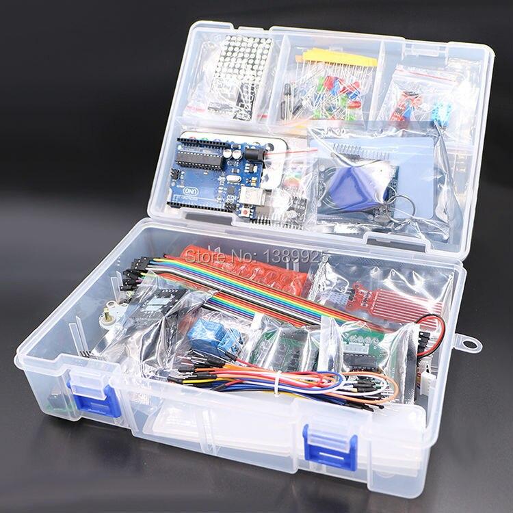 Avec la Boîte de Détail RFID Kit de Démarrage pour Arduino UNO R3 version Améliorée Suite E-learning En Gros Livraison Gratuite 1 set