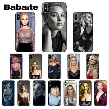 Babaite Jennifer Lawrence Customer High Quality Phone Case for iPhone 7 X 8 6S 6plus 7plus 8Plus X Xs MAX 5 5S XR image