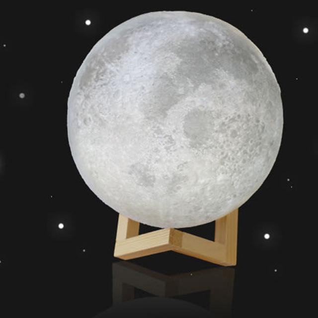 Moon Lamp Usb Led Night Light Lunar Moonlight Touch Sensor 2 Color Changing Bedroom Christmas