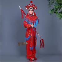 Пекинская опера одежда сценические костюмы Daomadan женский солдаты одежда ТВ этап фильм женщина вообще наряд Сычуань Юэ Кун опера