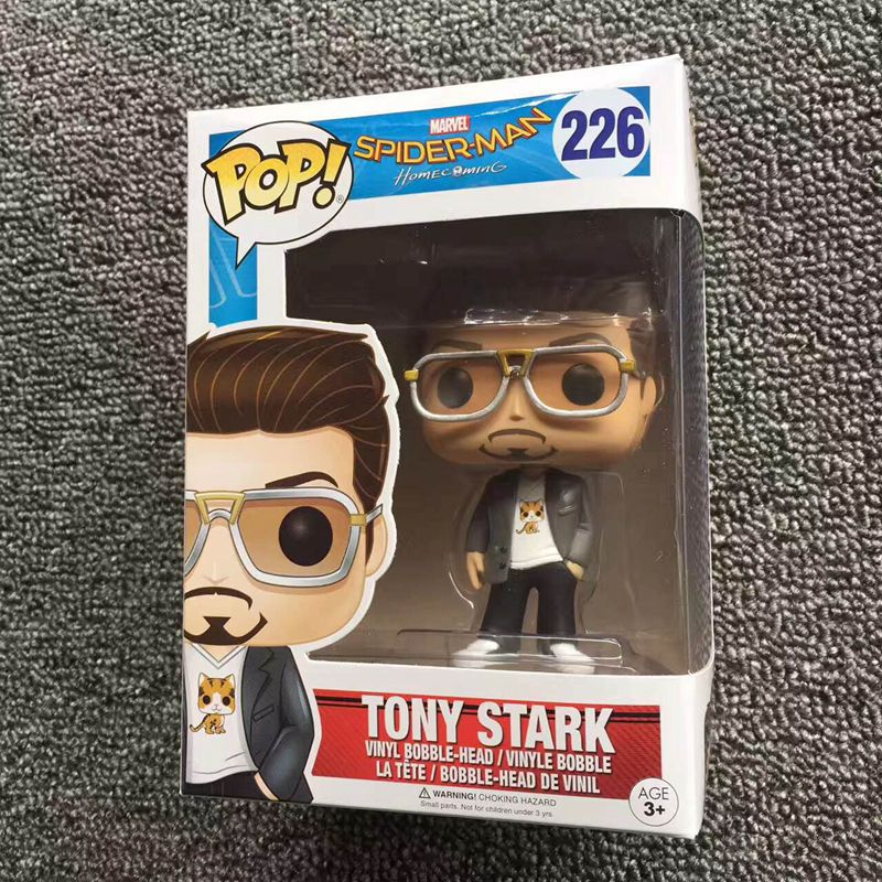 Exclusive Funko pop Official Spider-Man Homecoming - Tony Stark Spider Man Vinyl Action Figure Collectible Model Toy funko pop zootopia fox nick 186 pvc action figure collectible model toy 10cm kt2247