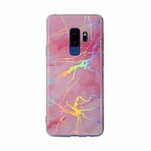 For samsung galaxy note 9 8 s7 edge s8 s9 plus case cover fashion laser marble glossy soft silicon protective phone bag Ritozcas