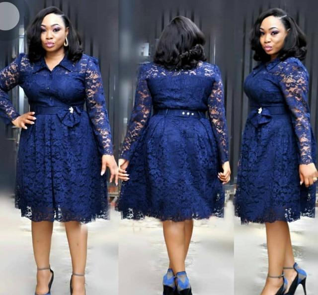 2019 new fashion style elegent african women plus size dress L 4XL ...