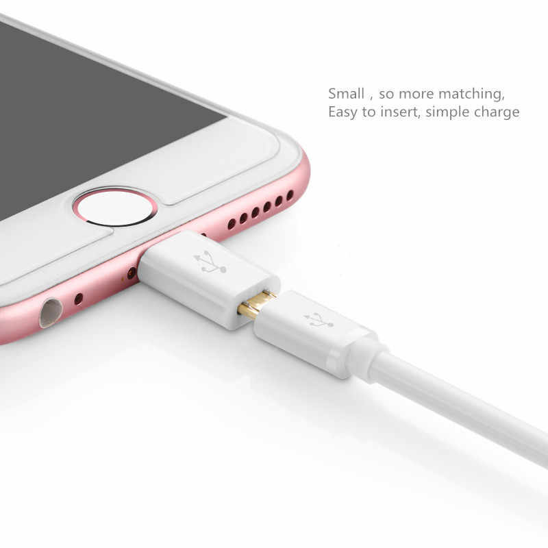 8pin ذكر إلى محول USB الصغير أنثى (مدخل) شاحن مزامنة البيانات لابل آيفون X 7 6 6s زائد 5 5s se باد ميني اير برو آي بود تاتش