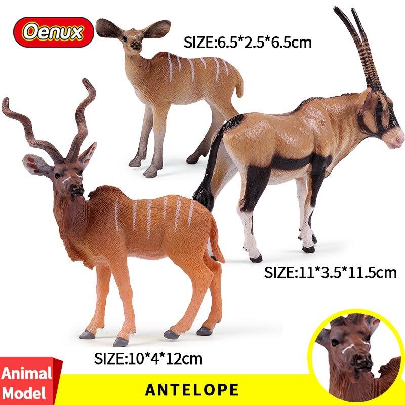 Oenux Original Südafrika Antilopen Tiere Modell Action-figuren Schafe Figuren Nette Pvc Statische Modell Sammlung Spielzeug Für Geschenk