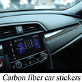 Car-styling Modification 3PCS Carbon Fiber Dashboard Stickers For 10th Honda Civic Car Stickers Modification Automotive Interior
