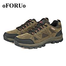 New Popular Women Men Hiking shoes genuine leather Outdoor Climbing sports shoes Waterproof slip resistant lover