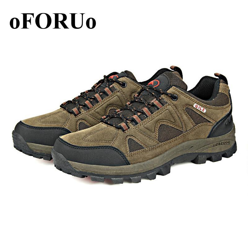 New Popular Women font b Men b font Hiking font b shoes b font genuine leather