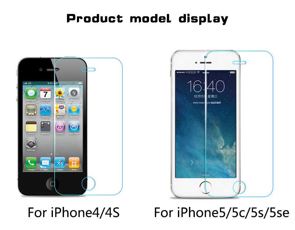 9H Premium Ekran koruyucu iphone 5s SE 5c 4s 6 s 6 s 7 artı X temperli Cam iphone 8 7 artı X XS XR XS MAX Cam