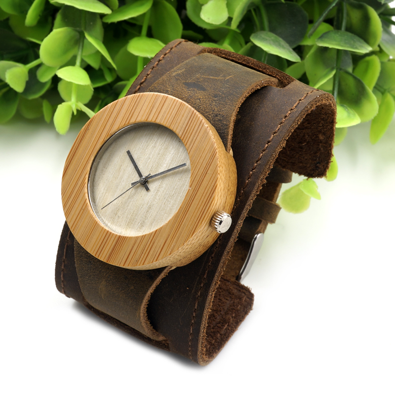 BOBO BIRD Wood Bamboo Watch Round Luxury Real Genuine Band Wooden Quartz Watches For Men and Women Relogio Masculino Feminino