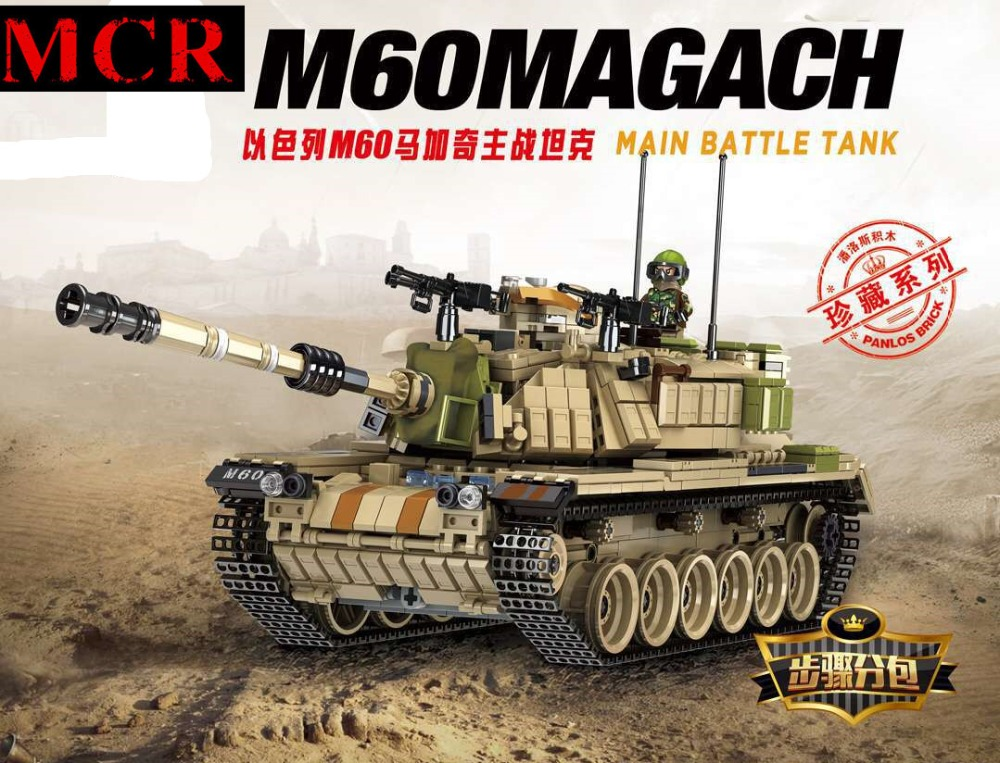 MCR Military tank M60 main battle tank magach collection The assembly Building blocks mini Figure mini legoing Toys For children 632004 1753pcs military world war israel m60 magach main battle tank 2in1 ww2 army forces building blocks toys for children gift