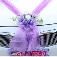 ดอกไม้ประดิษฐ์พวงมาลัยสำหรับการแต่งงานตกแต่งรถโฟมดอกกุหลาบดอกไม้T Ulleตกแต่งพวงหรีดดอกไม้...
