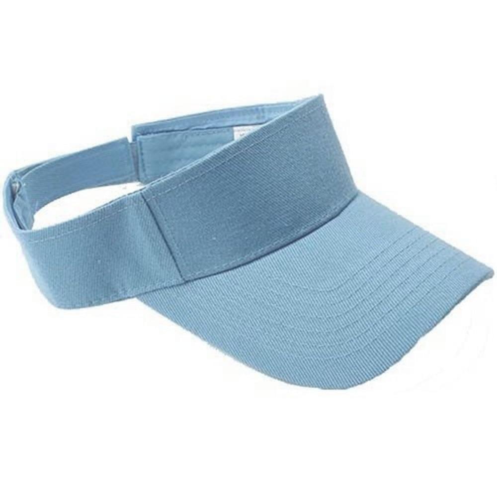 Summer Men Women Plain Visor Beach Sun Cap Adjustable Hat