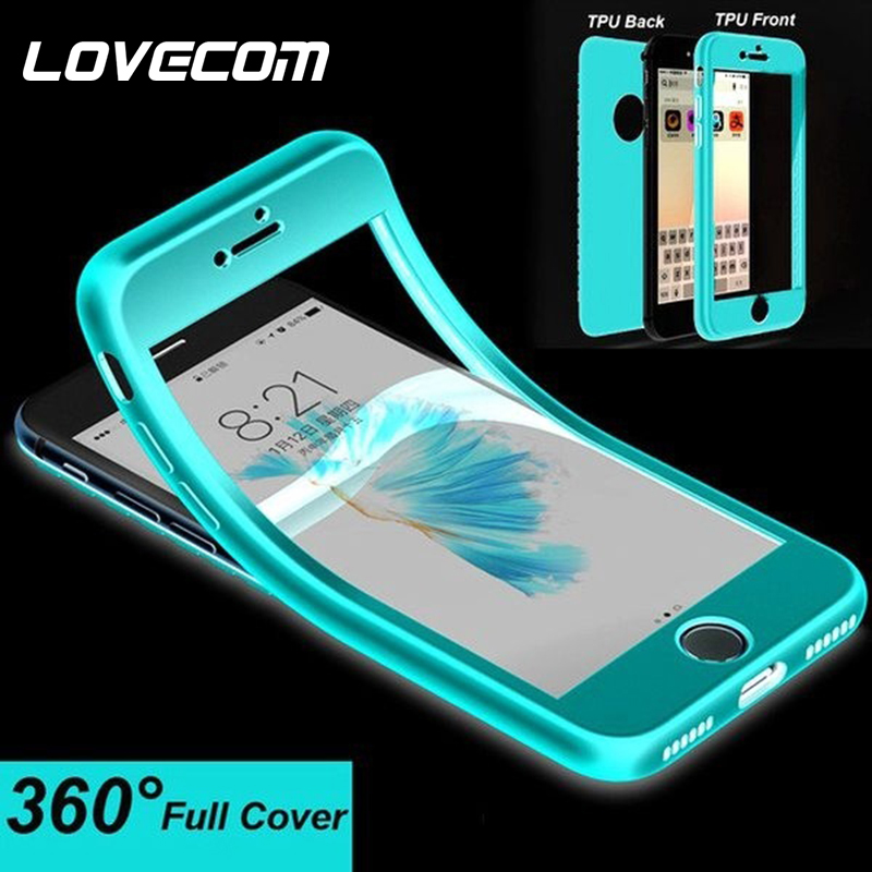 LOVECOM 360 Full Body Case For iPhone X XS Max XR 6 6S 7 8 Plus Zipper Type Buckle Candy Color Silicone Soft Phone Back Cover(China)
