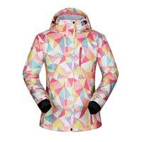 Women Winter Ski Jacket Waterproof 2018 Outdoor Jacket Snowboard Coat Female Snow Wear Jacket Ski Women Windproof Breathable