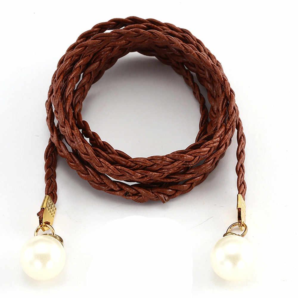 KLV pas kobiet potu styl cukierkowe kolory liny konopne pleciony pasek kobiet pas do sukni unikalna konstrukcja wysokiej jakości 20190304