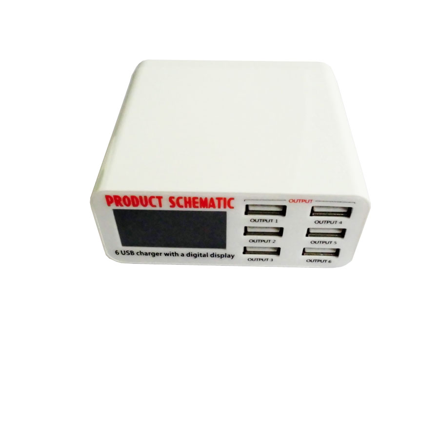 6 Port USB Charger Fast Smart Charging Station  (3)