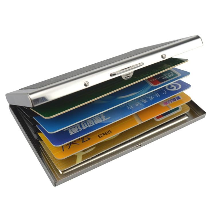 COWHERD High Grade Stainless Steel Men Credit Card Holder Women ...