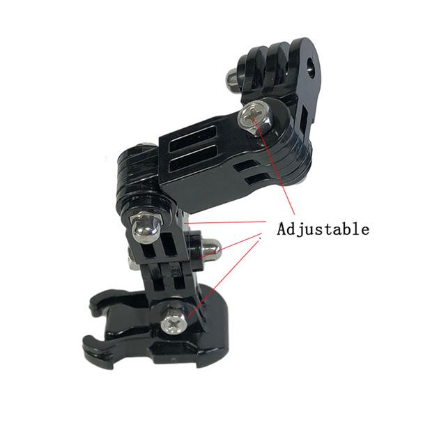 Adjustable Helmet Curved Adhesive Side Mount for xiaomi yi 4K GoPro HD Hero 4 5 6 7 Sjcam Sj4000 EKEN action Camera Accessories
