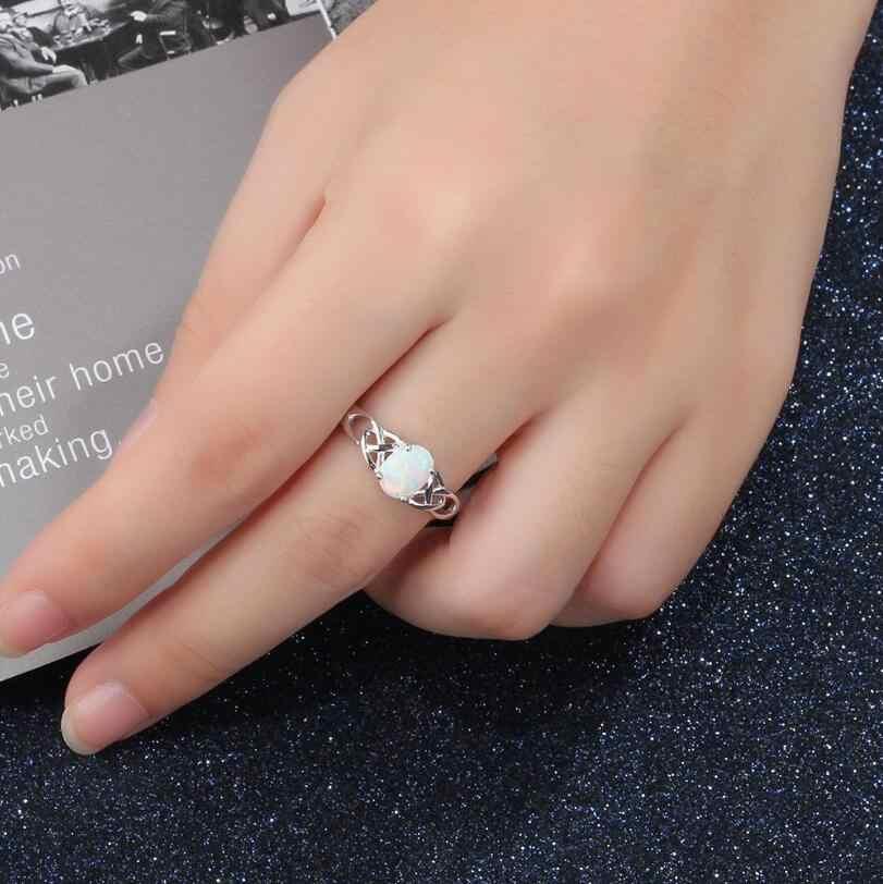 Anenjery วินเทจแฟชั่นการตั้งค่าหินโอปอลอัญมณี 925 แหวนเงินสเตอร์ลิงสำหรับสตรีขนาด 6-10 anillos anel S-R322