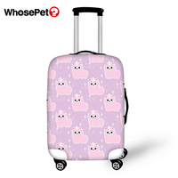 WHOSEPET Travel Luggage Protective Cover Cartoon Sheep Prints Waterproof Suitcase Cover Animal Pattern Dust proof Suitcase Cover