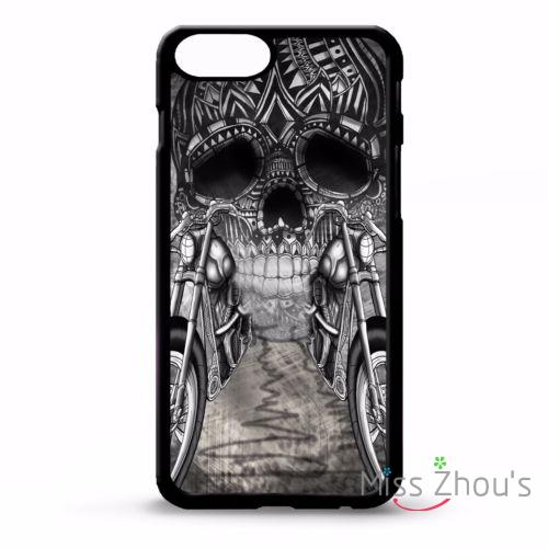 For iphone 4/4s 5/5s 5c SE 6/6s plus ipod touch 4/5/6 back skins cellphone cases cover Motorbike biker chopper skull tattoo